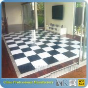 portable white and black cheap dance floor for sale