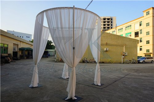 Square and round pipe and drape kit for wedding