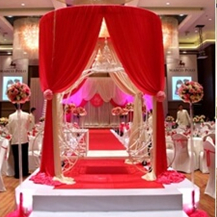 Wedding Decoration backdrop in Round roof style